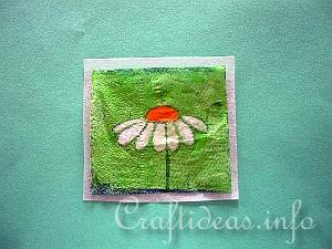 Paper Napkin Applique with Fusible Web 1