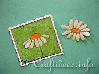 Paper Napkin Applique with Fusible Web