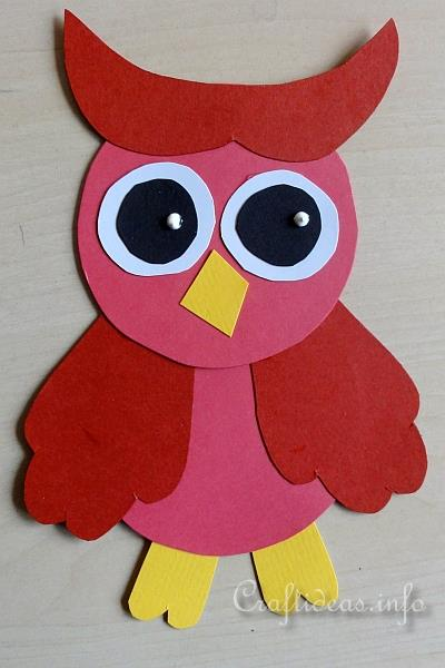 Fall Craft For Kids Colorful Paper Owls