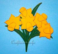 Paper Piecing Craft - Daffodils Window Picture