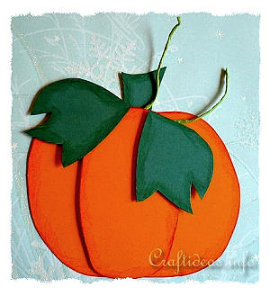 Fall Craft For Kids Paper Pumpkin Window Or Wall Decoration