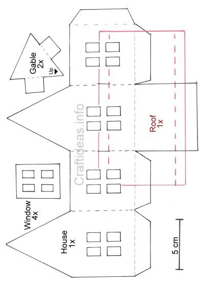 CraftideasInfo  Free Craft Pattern For Tea Light Lantern House