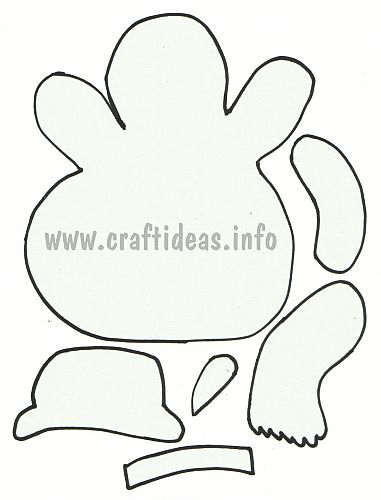 Free Winter And Christmas Craft Template Or Applique  Snowman