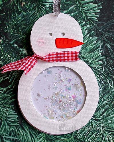 Paper Snowman Shaker Ornament