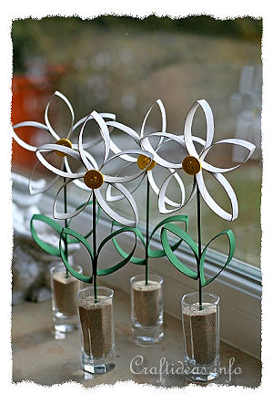 Paper Craft For Spring Recycling Craft Daisies Made From Empty