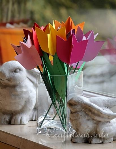 Craftideas.info Paper Tulips