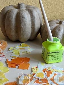 Paper, Paper Mache Pumpkins and Decopage Glue