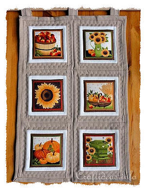 Patchwork and Sewing Craft - Fall Leaves Wallhanging