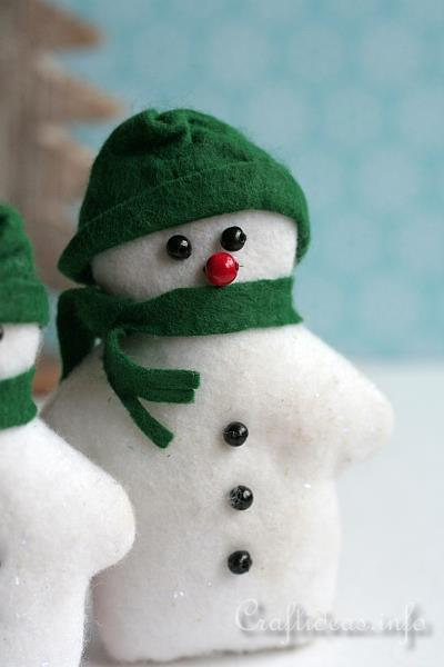 Patchwork and Sewing Craft for Christmas - Felt Snowman Pair 2