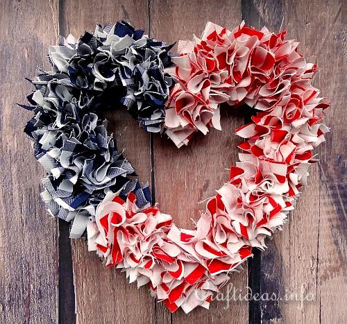 Patriotic Heart Wreath