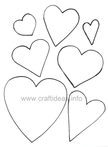 Free Craft Patterns And Templates  Hearts Templates
