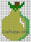 Pear Fuse Beads Pattern