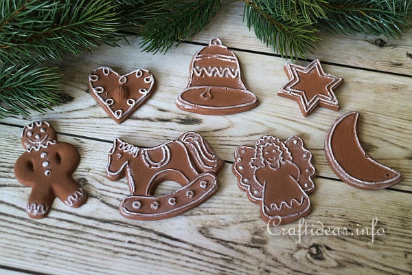 - Christmas Craft - Plaster Of Paris Christmas Cookie Ornaments