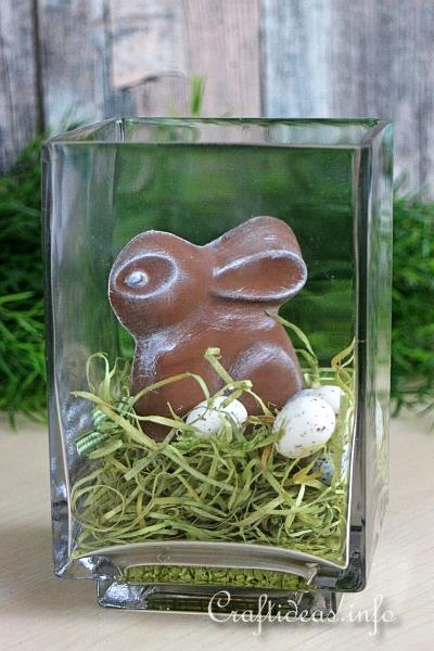 Plaster of Paris Easter Bunny Decoration
