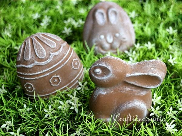 Plaster of Paris Easter Decorations
