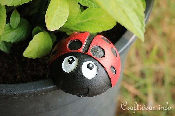 Plaster of Paris Lady Bug