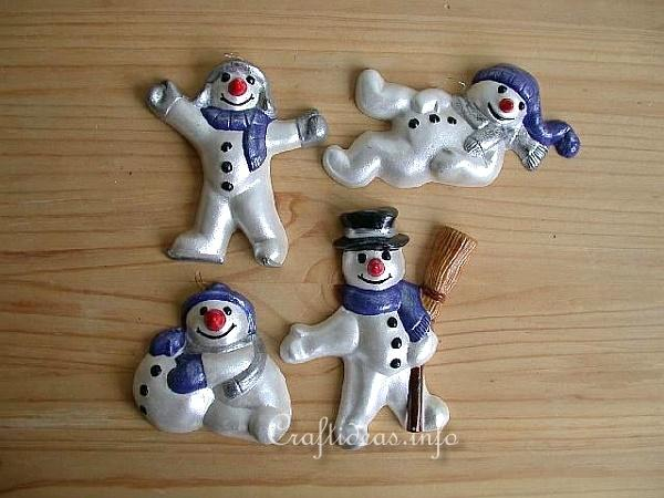 Plaster of Paris Snowmen