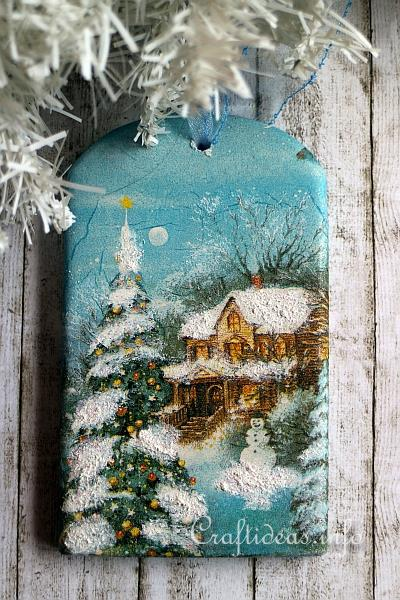 Plaster of Paris Winter Wall Decoration