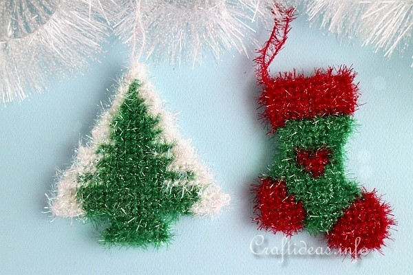 sparkly plastic canvas christmas tree ornaments craft - Plastic Canvas Christmas Ornaments
