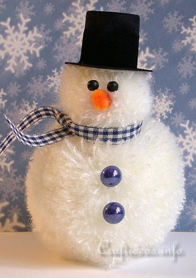 Christmas and winter crafts for kids pom pom snowman - Bonhomme de neige en pompon ...