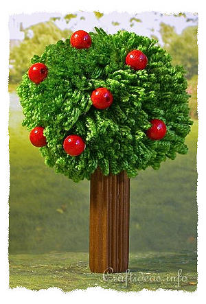 Kids Crafts For Summer Pom Pom Apple Tree
