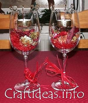 table glass decorations