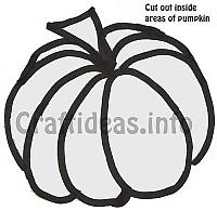 Pumpkin Suncatcher Template