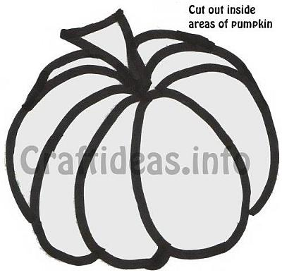 Free Craft Patterns and Templates ! Template for Paper Pumpkin ...
