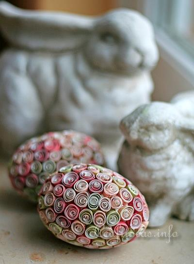 Quilled papier Easter Eggs 1