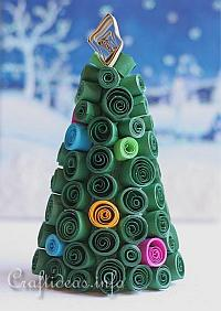 Quilled Styrofoam Tree