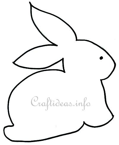 Bunny easter pattern printable patterns gallery for Bunny rabbit templates free
