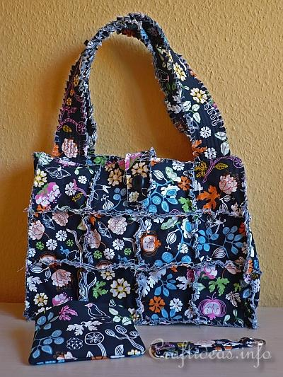 Rag Quilt Tote Bag and Accessories