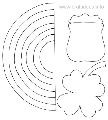 Free Craft Template - St. Patrick'S Day - Rainbow B