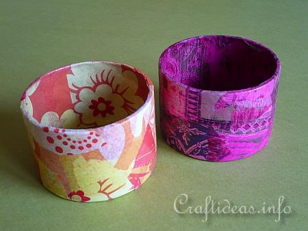 Recycling Craft - Bangle Decorated with Decopatch 3