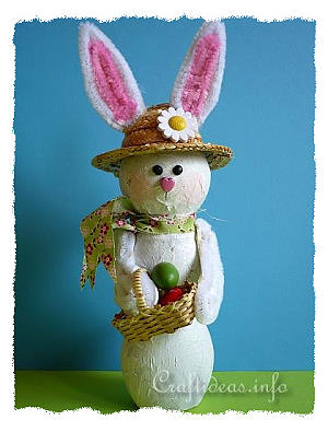 Recycling Craft - Bottle Easter Bunny