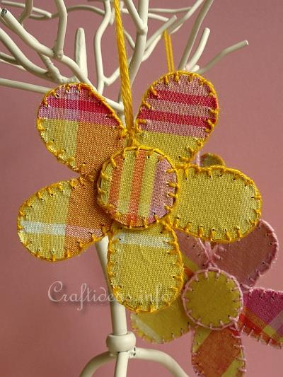 Paper Craft For Spring Recycled Cardboard Box And Fabric Flowers