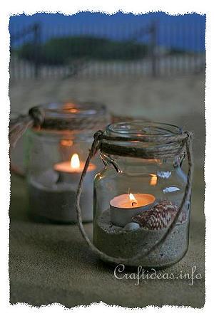 Recyclage Craft - Tea Light Jars Maritime