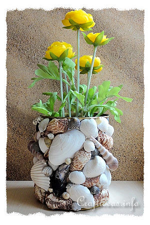 Recycling Craft - Seashell Can