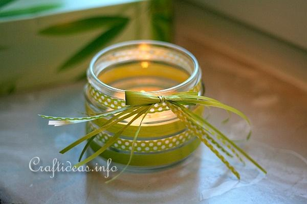 Recycling Craft - Tea Light Jar 1