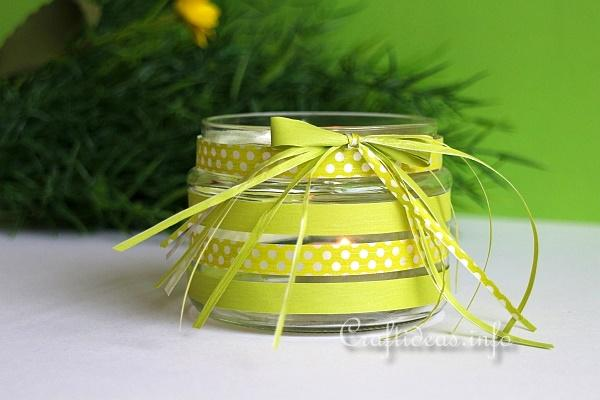 Recycling Craft - Tea Light Jar 2