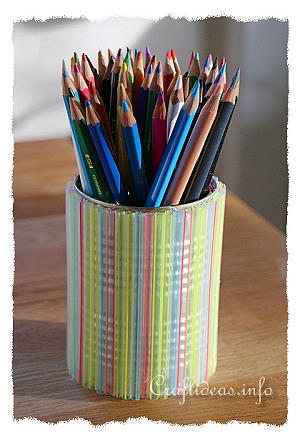 Recycling Craft Using Cans - Decorative Pencil Holder for Kids