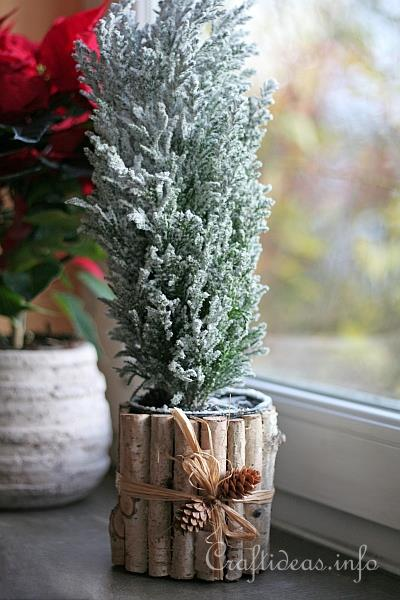 Recycling Craft for Christmas - Can Flower Pot 1
