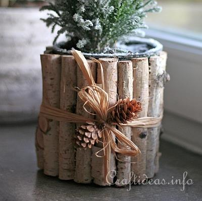 Christmas Craft Recycling With Cans Natural Looking