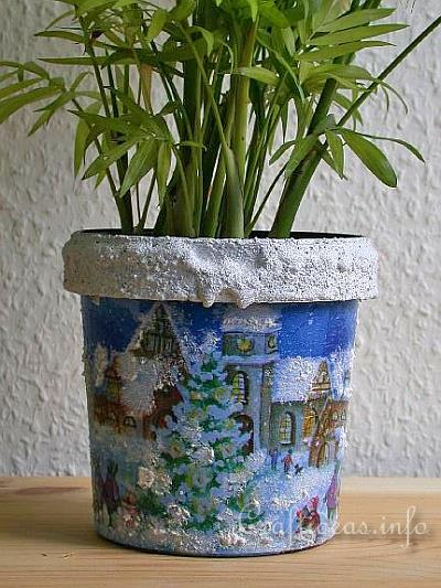 Recycling Craft for Christmas - Flower Pot