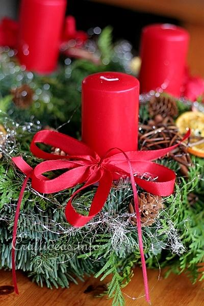 Red Advent Wreath Detail