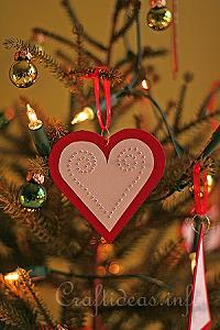 Red Heart Paper Ornament 1