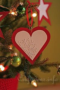 Red Heart Paper Ornament 2
