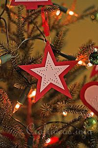 Red Star Paper Ornament 1
