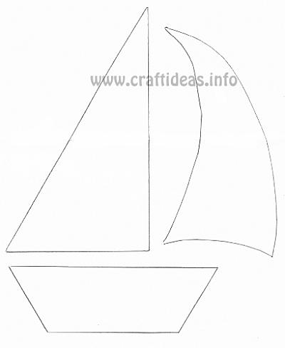 free craft patterns and templates for summer sailboat template