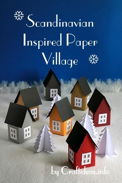 Scandinavian Inspired Paper Village